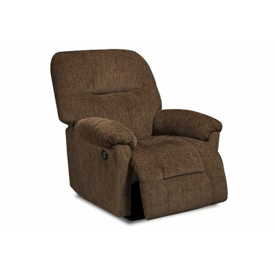 Stovall Power Recliner Upholstery: Perth Chocolate