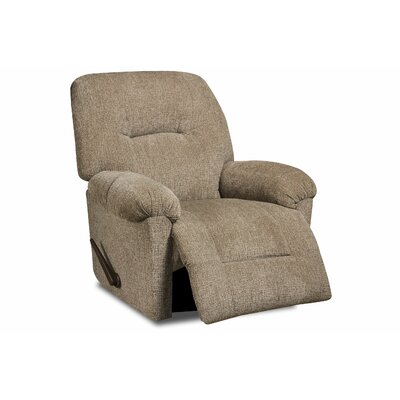 Stovall Manual Recliner Upholstery: Perth Pewter