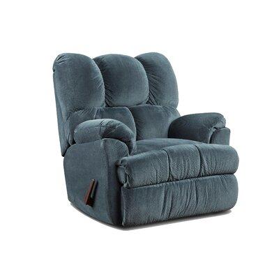 Strauss Manual Rocker Recliner Upholstery: Aurora Blue