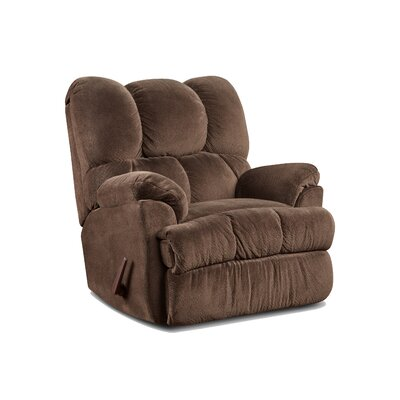 Strauss Manual Rocker Recliner Upholstery: Aurora Chocolate