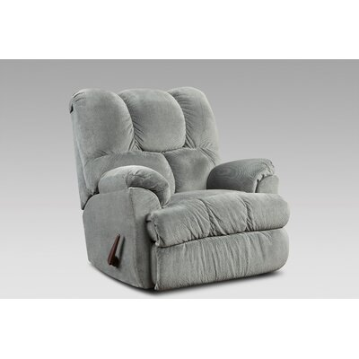 Strauss Manual Rocker Recliner Upholstery: Aurora Gray