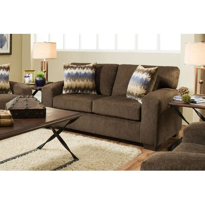 Stricker Loveseat Upholstery: Perth Chocolate