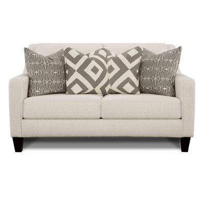 Keown Loveseat Upholstery: Sugarshack Glacier