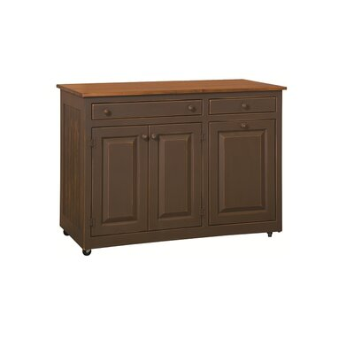 Elize Kitchen Island Base Finish: Ferret Brown Sealy