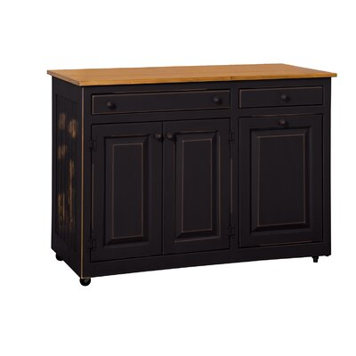 Elize Kitchen Island Base Finish: Black