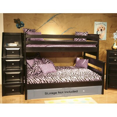 Petersen Twin Over Full Bunk Bed with Stairway Chest