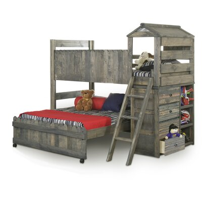 Allanton Twin Over Full L-Shaped Bunk Beds with Ladder