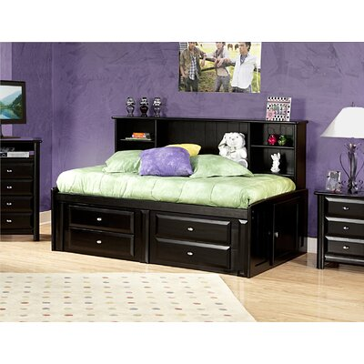 Eldon Twin Bed with Bookcase and Storage