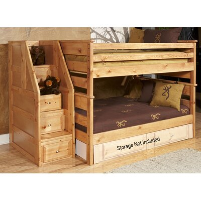Aldeline Full Over Full Bunk Bed with Stairway Chest