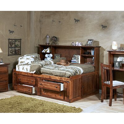 Cummings Twin Mates & Captains Bed with Bookcase