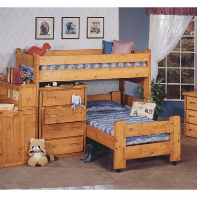 Alderman Twin Over Twin Junior Loft Bed
