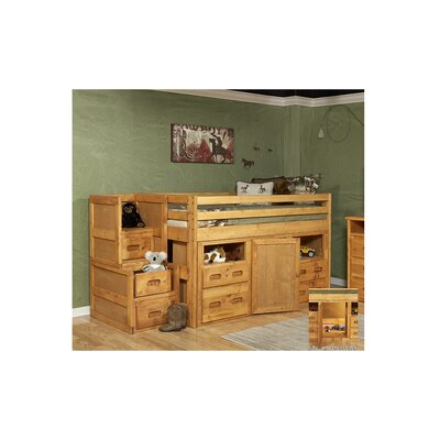 Hurst Twin Junior Loft Bed with Storage & Stairway Che
