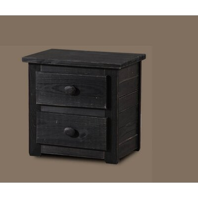 Chestertown 2 Drawer Nightstand Color: Black