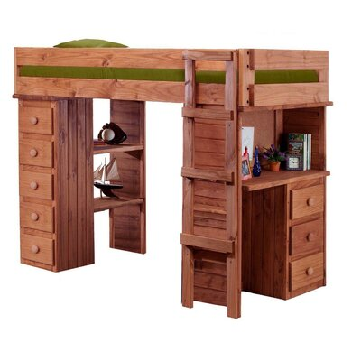 Chronister Twin Loft Bed with Desk and Chest