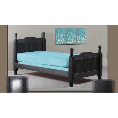 Chidester Four Poster Bed Size: Twin, Bed Frame Color: Black