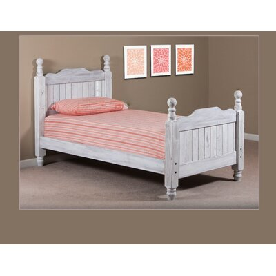 Chidester Four Poster Bed Size: Full, Bed Frame Color: White
