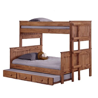 Choquette Stackable Twin Over Full Bunk Bed with Trundle