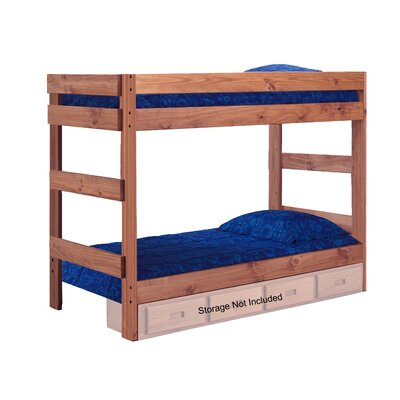 Chmura One Piece Bunk Bed with Storage Size: Full
