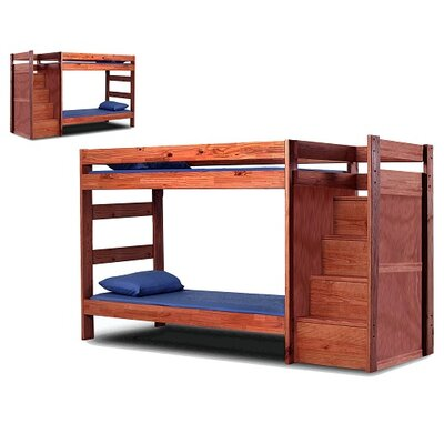 Christiansen Staircase Twin Over Twin Bunk Bed with Drawers