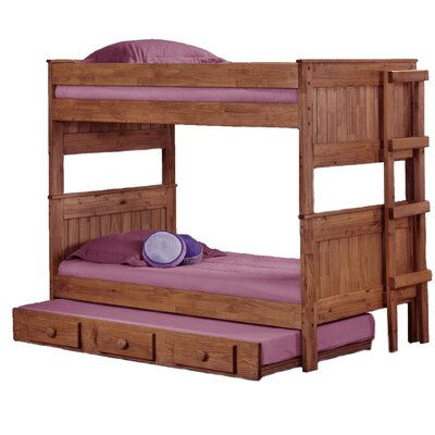 Chicoine Stackable Twin Over Twin Bunk Bed with Trundle