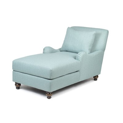 Jasmine Chaise Lounge Upholstery: Crawford Turquoise