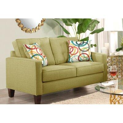 Seavey Loveseat Upholstery: Green