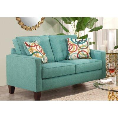Seavey Loveseat Upholstery: Blue