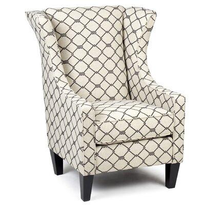 Elden Seaborne Ebony Wingback Chair