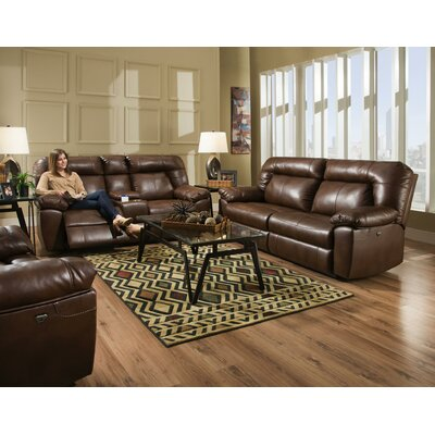 Zhenyu 2 Seat Reclining Sofa Upholstery: Brown