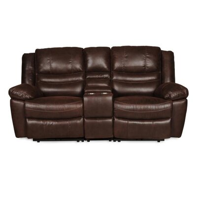 Du Rocker Reclining Loveseat with Console Upholstery: Espresso