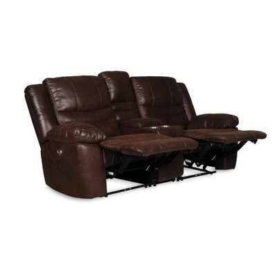 Du Reclining Loveseat with Console Upholstery: Espresso