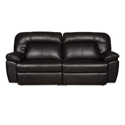 Zhenyu 2 Seat Reclining Sofa Upholstery: Dark Brown