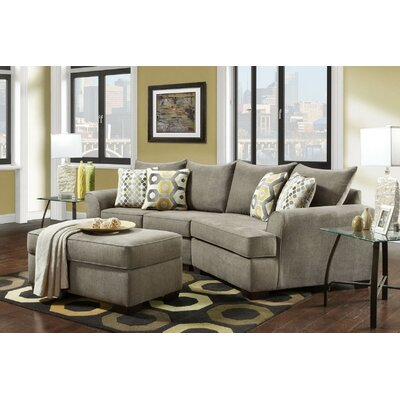 Privette Sectional Upholstery: Essence Platinum