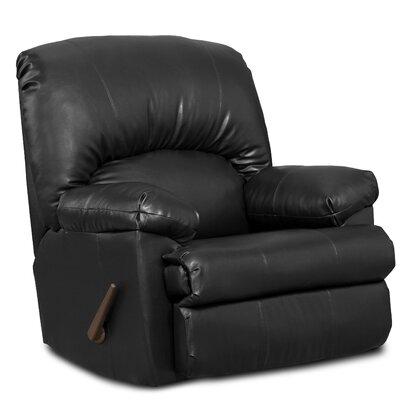 Pennsport Manual Rocker Recliner Upholstery: Ty Black
