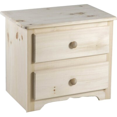 Laran Deluxe 2 Drawer Nightstand