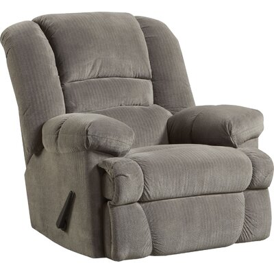 Orleans Manual Rocker Recliner Upholstery: Gray/Dynasty Smoke