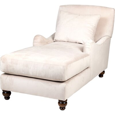 Jasmine Chaise Lounge Upholstery: Cream