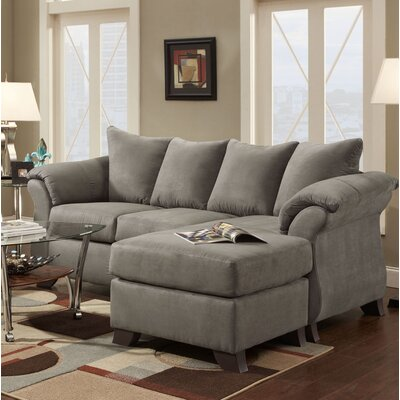 Payton Reversible Sectional Upholstery: Gray