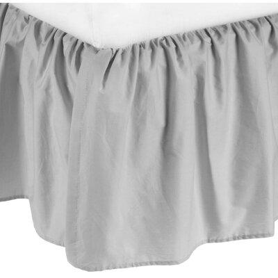Percale 100% Cotton Mini Crib Dust Ruffle Color: Gray