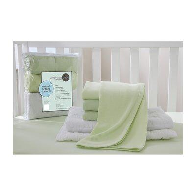 Portable Mini Starter 6 Piece Crib Bedding Set 13110 Celery