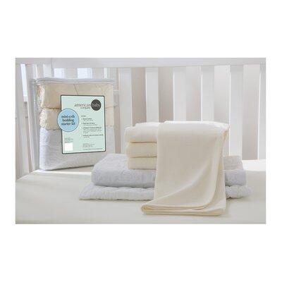 Portable Mini Starter 6 Piece Crib Bedding Set 13110 Ecru