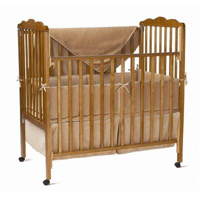 Three Piece Organic Cotton Velour Mini Crib Set