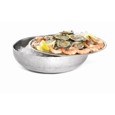 Remington Stainless Steel Two Piece Round Chill And Serve Serving Set