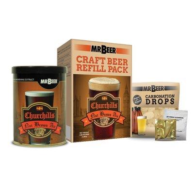 Mr. Beer Churchills Nut Brown Ale Beer Making Refill Kit 40-62006-01