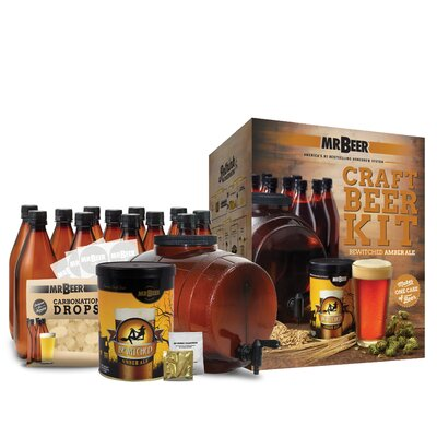 Mr. Beer Bewitched Amber Ale Complete Craft Beer Making Kit 40-20973-00