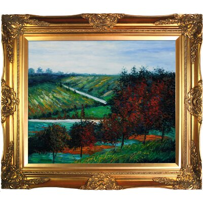 Apple Trees in Bloom at Vetheuil 1887 by Claude Monet Framed Painting MON2031-FR-6996G20X24