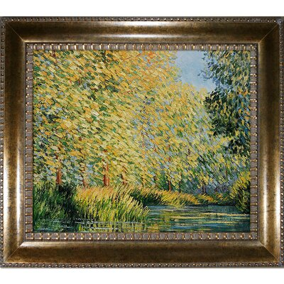 'Bend in the Epte River' by Claude Monet Framed Oil Painting Print on Canvas MON637-FR-M8098620X24