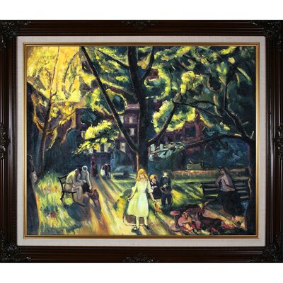 Gramercy Park by Bellows Framed Original Painting
