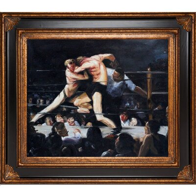 Stag Night at Sharkey's by George Wesley Bellows Framed Painting Print GB2349-FR-278BP20X24