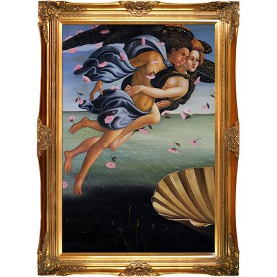 Birth of Venus by Sandro Botticelli Framed Painting Print BOT2358-FR-6996G24X36
